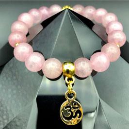 """""""Om"""" Bracelet Quartz Rose"""