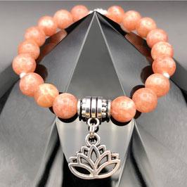 """""""Lotus"""" Bracelet Pierre de Soleil"""