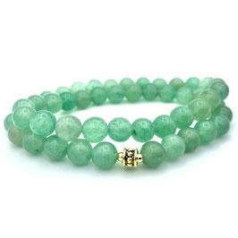 Collier de perles d'Aventurine Verte naturelle