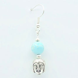 Boucles d'oreilles Turquoise Bouddha A