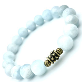 """Sita Bronze"" Bracelet Aigue-Marine"