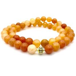 Collier de perles d'Aventurine Orange naturelle
