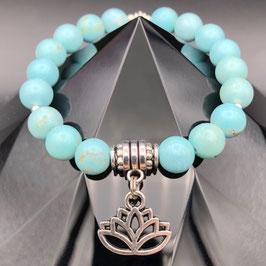 """Lotus"" Bracelet Turquoise"