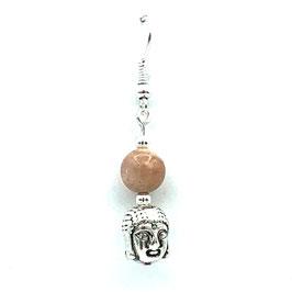 Boucles d'oreilles Pierre de Lune et Bouddha
