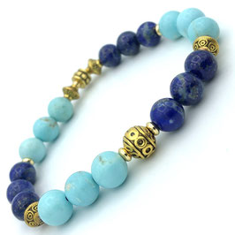 Bracelet Turquoise et Lapis-lazuli