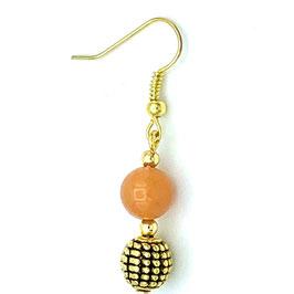 Boucles d'oreilles Aventurine Orange