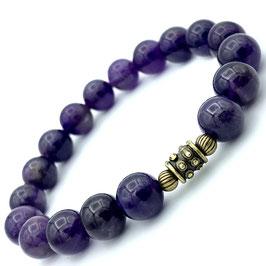 """Sita Bronze"" Bracelet Améthyste"