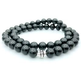 Collier de perles d'Obsidienne naturelle