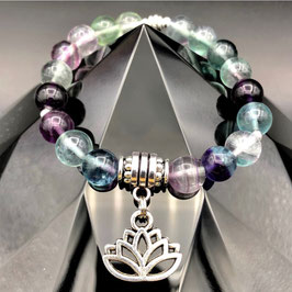 """Lotus"" Bracelet Fluorite"
