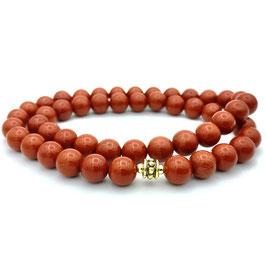 Collier de perles de Jaspe Rouge naturelle