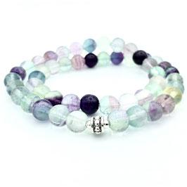 Collier de perles de Fluorite naturelle