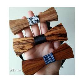 nœud papillons en bois