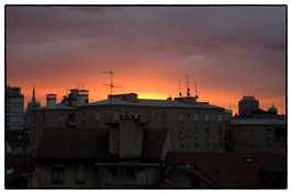 Sunset over Milano