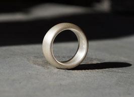 breiter bequemer Silberring matt