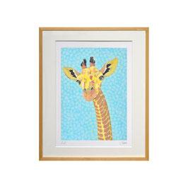 セロ版画™️「キリン」