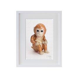 ラベル版画™209「お猿さん」