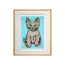 セロ版画™️「ネコ」