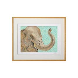 セロ版画™️「ゾウ」