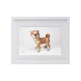 ラベル版画™209「柴犬」