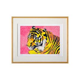 セロ版画™️「トラ」