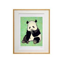セロ版画™️「パンダ」