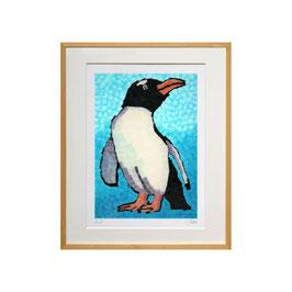 セロ版画™️「ペンギン」