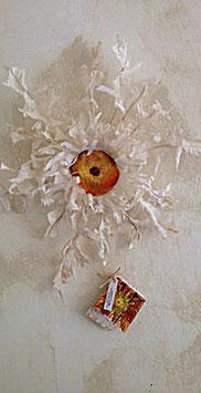Cardabelle en soie  OBJET D'ART DÉCORATION