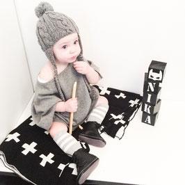 "Babysweater ""Poncho Grey"""