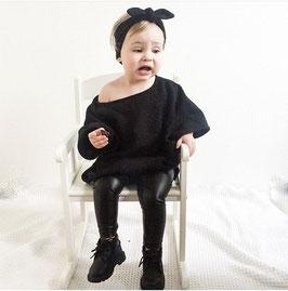 "Babysweater ""Poncho Black"""