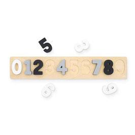 """puzzle numérique bois """"gris-blanc-noir"""""""