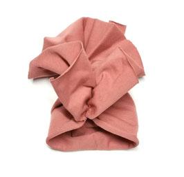 chapeau jersey vieux rose pour poupée 38cm