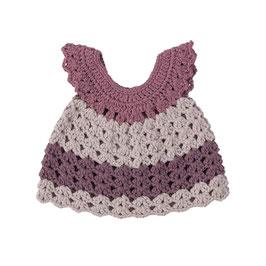 robe courte en crochet pour poupée 30-38cm