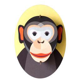mini trophée carton singe