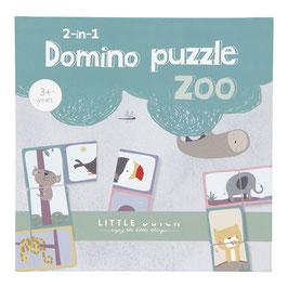 domino 2en1 puzzle animaux du zoo