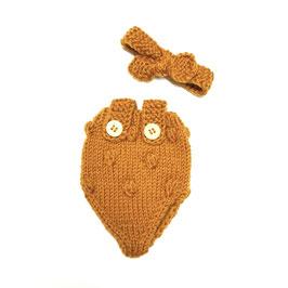 body & ruban en tricot pour poupée 34-38cm