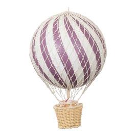 ballon montgolfière 20cm prune