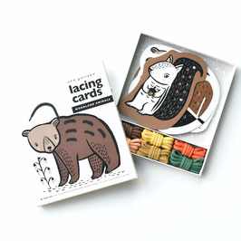 """cartes de laçage """"animaux de la forêt"""""""