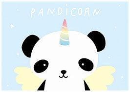 "carte postale ""pandicorn"""