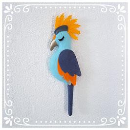 """perroquet feutrine """"blue jeans"""""""