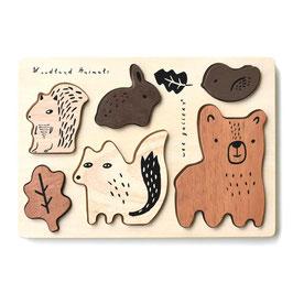 """puzzle bois """"animaux de la forêt"""""""
