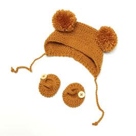 bonnet ourson & ballerine pour poupée 34-38cm