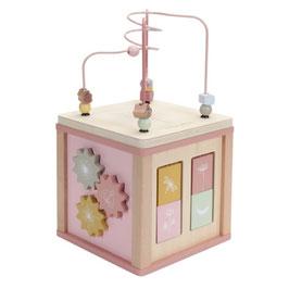 """cube d'activités bois """"rose"""""""