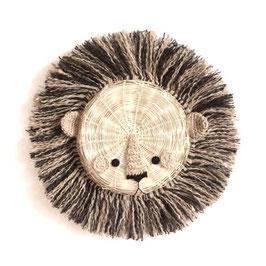 trophée lion en bambou bicolore