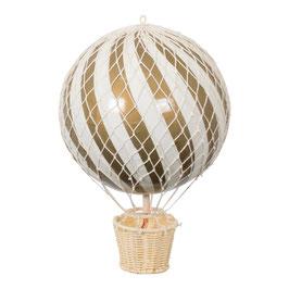 ballon montgolfière 20cm or