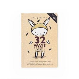 """livre d'activités 32 façons d'habiller """"les bébés animaux"""""""