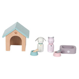 """accessoires bois pour maison de poupée """"animaux"""""""