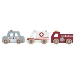 trio véhicules de secours