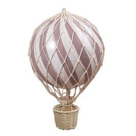 ballon montgolfière 20cm vieux rose