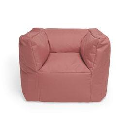 fauteuil pouf rose moyen