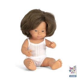poupée *fille* caucasienne syndrome Down